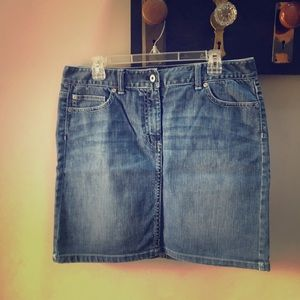 Ann Taylor jean skirt